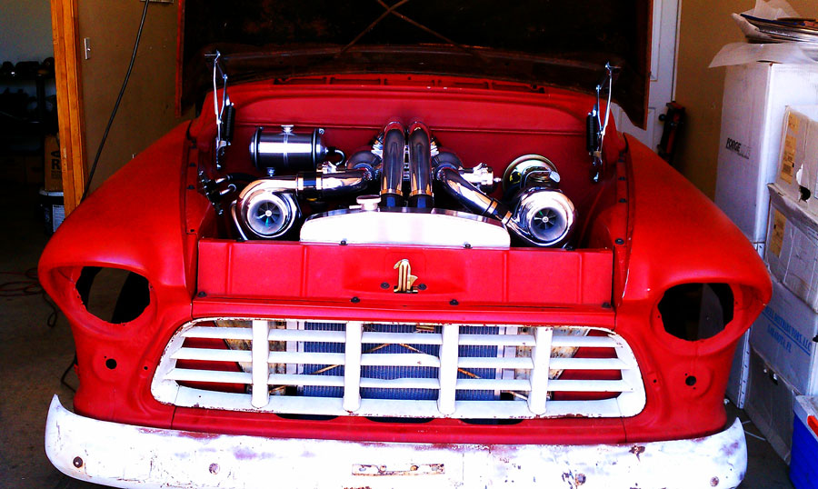Twin Turbo 1955 Chevy Pick Up Truck